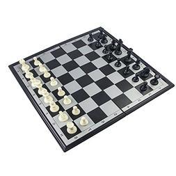 RUNNOW 3 In 1 Magnet Chess & Checkers & Backgammon 9.3 Inche