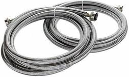 Kelaro 10 Foot Stainless Steel Washing Machine Hoses  - Burs