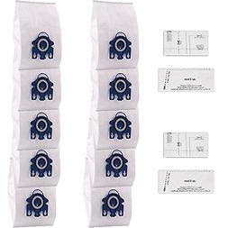 Amyehouse 10 Packs Miele AirClean 3D Efficiency Dust Bags,Ty