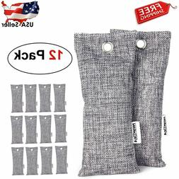 12 Pack 75g Each Bamboo Charcoal Air Purifying Bag, Travel S