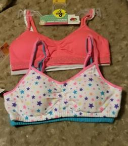 2 2 Pack Fruit Of The Loom Girl Training Bras Size 30