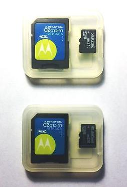 2 Pack SanDisk 512MB MicroSD Universal Memory Card With Moto