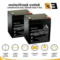 2 Pack: 12V 4.5Ah Rechargeable Battery for djw12-4.5, LiftMa