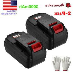 2 Pack 18V 3.0Ah NiCd Replacement Battery for Porter Cable P