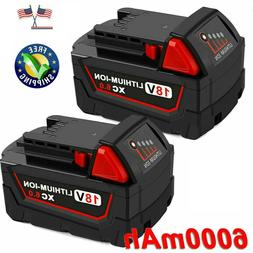 2 Pack 18V 5.0Ah Li-ion Rechargeable Battery for Milwaukee M