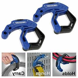 "Vaughan 2 Pack 2"" Cable Extension Cord Management Clamps Adj"