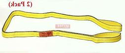 "2"" x 12 ft Web Sling Flat Eye & Eye 2-Ply Tow Strap Lifting"