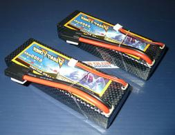 2 Pack 2843X Upgrade 7.4v 2S 6000mAh 50-100C Traxxas 10th Sc
