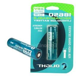 2 pack Olight 3400mAh 18650 Protected Rechargeable Battery f