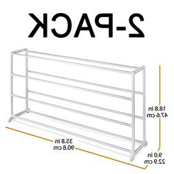 2-Pack 4 Tier Shoe Rack Organizer - Home Shoe Collection Org