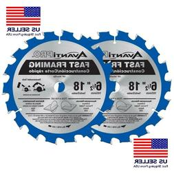 6-1/2 In. X 18-Tooth Fast Framing Circular Saw Blade cuttin