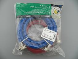 Watts 2 Pack 6' Reinforced PVC Red & Blue Washing Machine