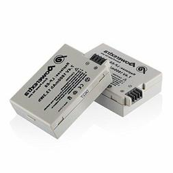 Powerextra 2 Pack 7.4V 1800mAh Li-ion Replacement Canon LP-E