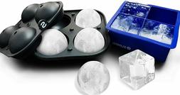 2 Pack Big Sphere Ice Molds & Ice Cube Trays Silicone Ice Ma