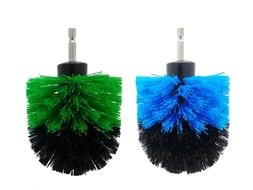 2-Pack Cone Drill Powered Brush Attachment for Cleaning Bath