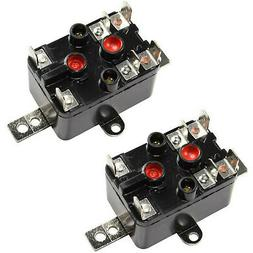 2-Pack Enclosed Fan Relay fits Heating /Cooling Applications