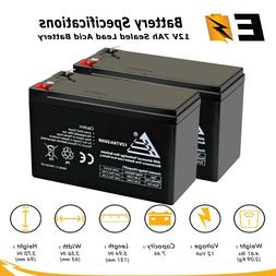 2 Pack: ExpertBattery 12V 7Ah SLA Battery Replaces Enduring