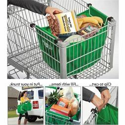 2 Pack Foldable Shopping Tote Bags Grocery Grab Bags Fabric