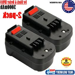 2 Pack For BLACK & DECKER 18V 18 Volt HPB18 Slide Battery Ni