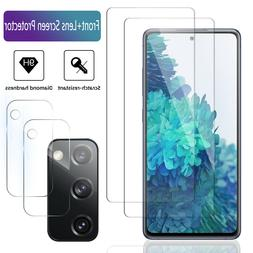 2-Pack For Samsung Galaxy S20 FE 5G Tempered Glass/Camera Le