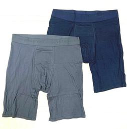 TOMMY JOHN 2-PACK NAVY/BLUE MEDIUM Boxer Briefs NWT!