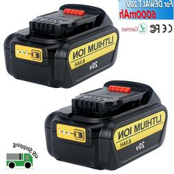 2 Pack New DCB206-2 20V MAX 6.0Ah Lithium Replacement Batter