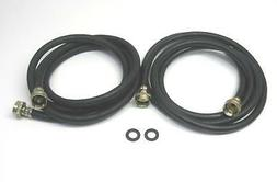 2 Pack of 8' Washing Machine Fill Hoses Lead Free