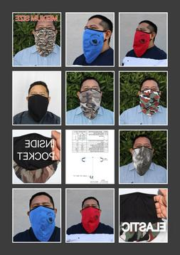 2 pack of beard face mask cotton fabric double layer with po
