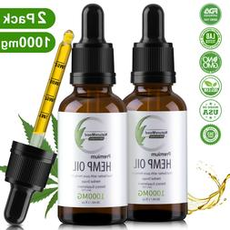 2 Pack Organic Hemp Oil Extract Pain Relief Reduce Stress Jo