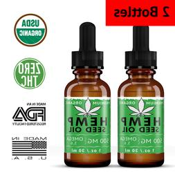 2 pack organic hemp seed oil drops