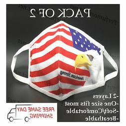 2 PACK / PCS American Eagle Flag/American Strong Fashion Fac