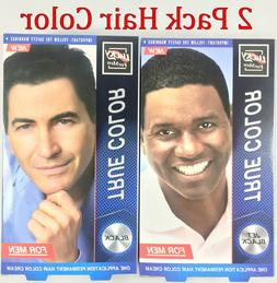2 Pack LUCKY FOR MEN Permanent Hair Color Hair Dye True Colo