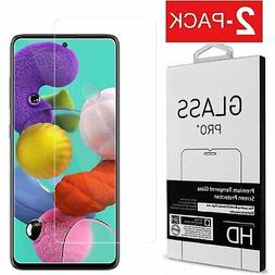 2-Pack Premium Tempered Glass Film Screen Protector for Sams