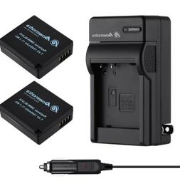 Powerextra 2 Pack Replacement Battery and Charger for Panaso