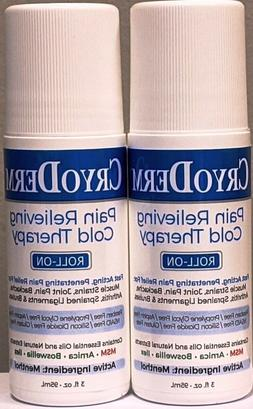 2 PACK! CRYODERM Soothing Pain Relief Roll On 3 oz