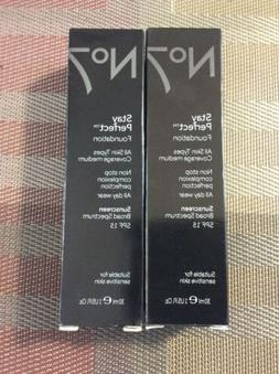 2 PACK No7 Stay Perfect Foundation Warm Ivory