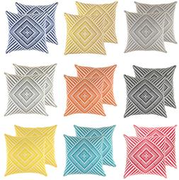TreeWool  Throw Pillow Covers in Cotton Canvas Kaleidoscope