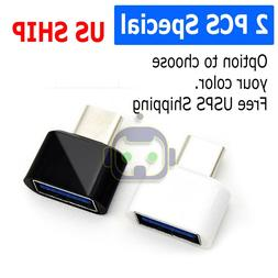 2-Pack USB C Adapter Hi-speed OTG USB Type C to USB-A 3.0 Co