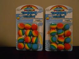 2 TWO PACKS! Hog Wild Rainbow Popper Refill Balls 24 Replace