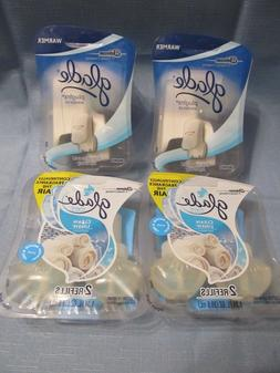 2--GLADE WARMERS + 2--TWIN PACK OF CLEAN LINEN REFILLS  **NE