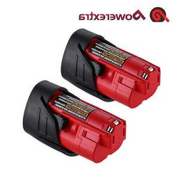 2Pack 12V For Milwaukee 48-11-2460 48-11-2412 M12 XC 2500mAh