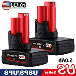 2PACK 18V 5.0Ah Lithium-Ion Battery Battery For Makita 18Vol