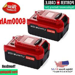 2Pack 5.0Ah 20Volt MAX Lithium Battery For Porter Cable PCC6