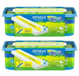 2pack - Swiffer Sweeper X Large Wet Mopping Cloths, Unscente