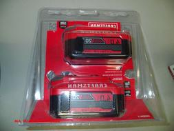 Craftsman 4.0AH 20v Lithium Ion Batteries CMCB204-2   Free S
