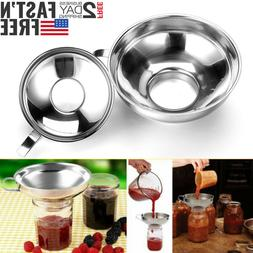 2Pack Mason Jar Stainless Steel Kitchen Canning Funnel for W