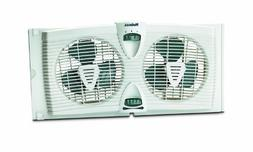 Holmes HAWF2030 Dual Blade Twin Window Fan with Thermostat