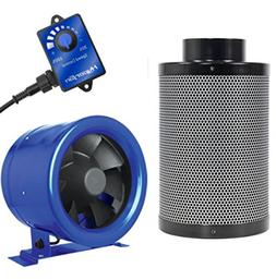 """Hyper Fan 6"""" Inch and Black Ops 6"""" x 16 """" Carbon Filter Comb"""