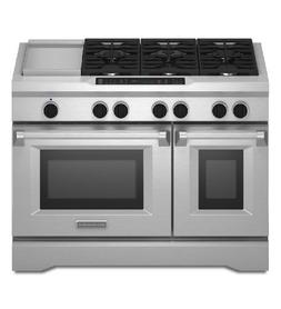 Kitchenaid - 6.3 Cu. Ft. Self-cleaning Freestanding Double-o