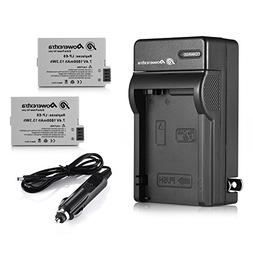 LP-E8 Powerextra 2 Pack Replacement Battery & Charger Compat